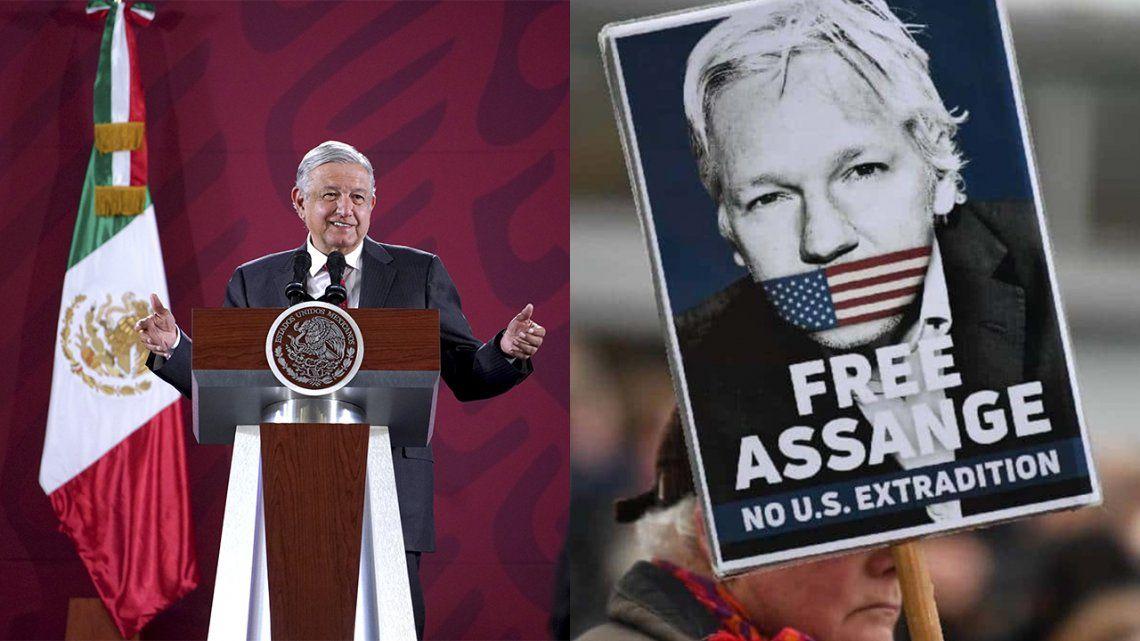 Andrés López Obrador ofrecerá asilo político en México a Julian Assange.