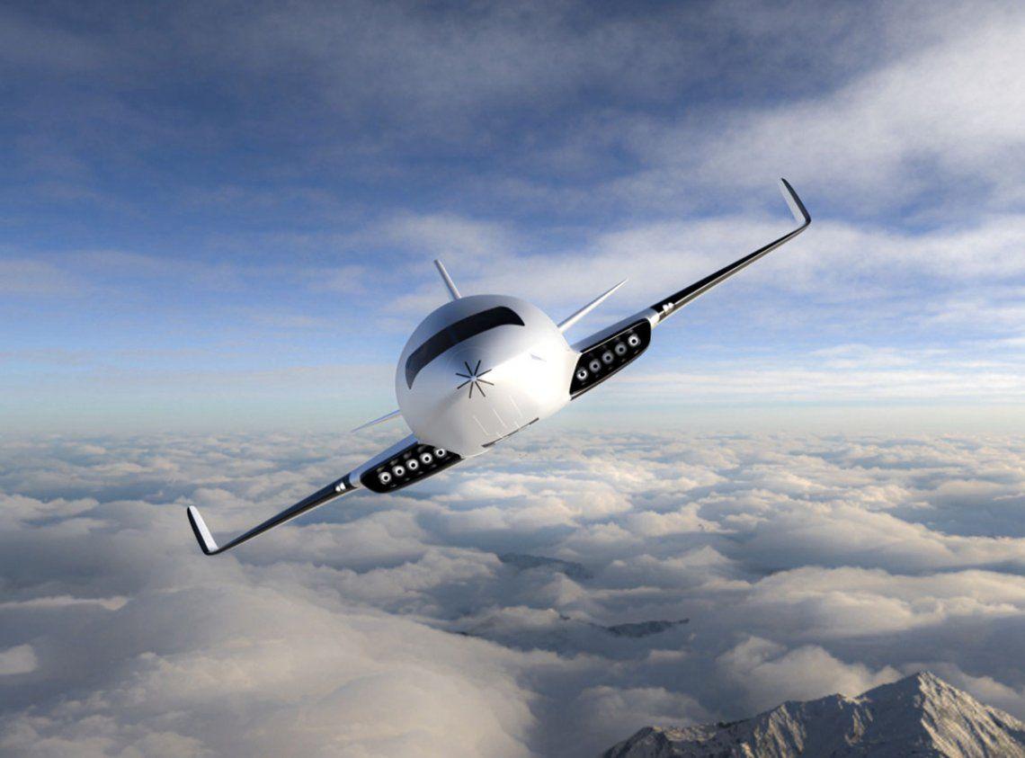 El avión no necesita tanques de combustible o grandes bancos de baterías