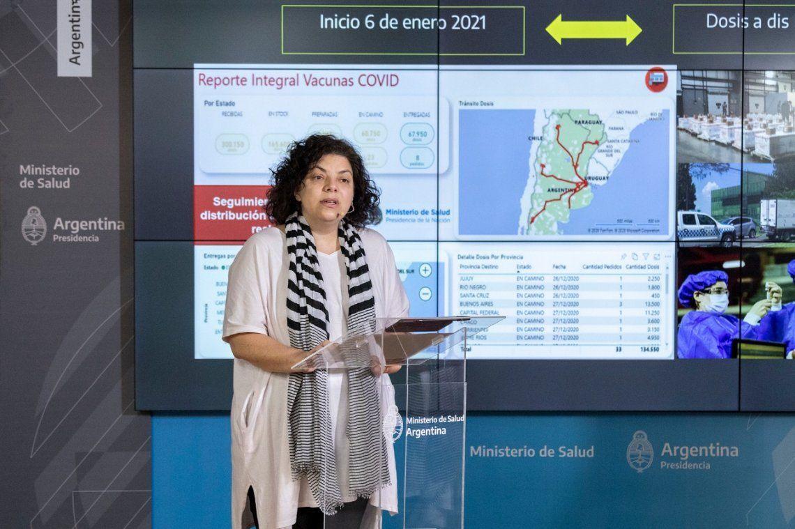 Carla Vizzotti brindó un nuevo informe sobre el coronavirus en nuestro país