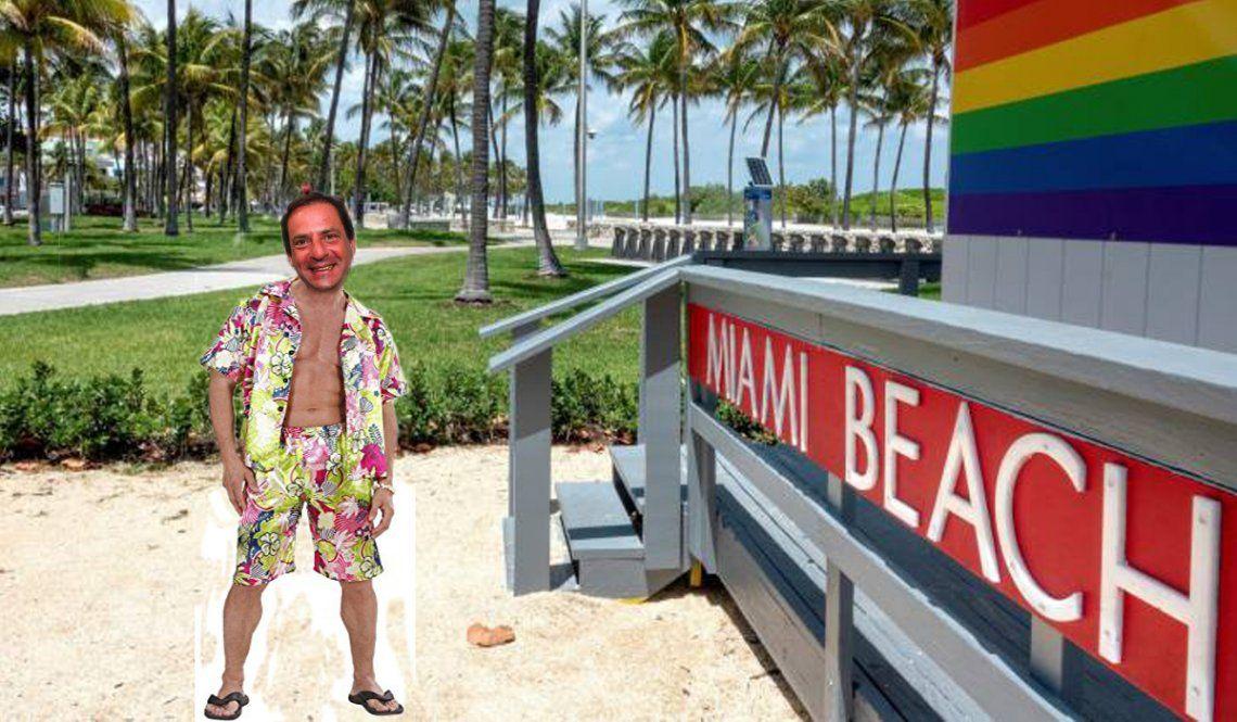 Ariel Sujarchuk: puente aéreo Escobar-Miami/ Foto montaje