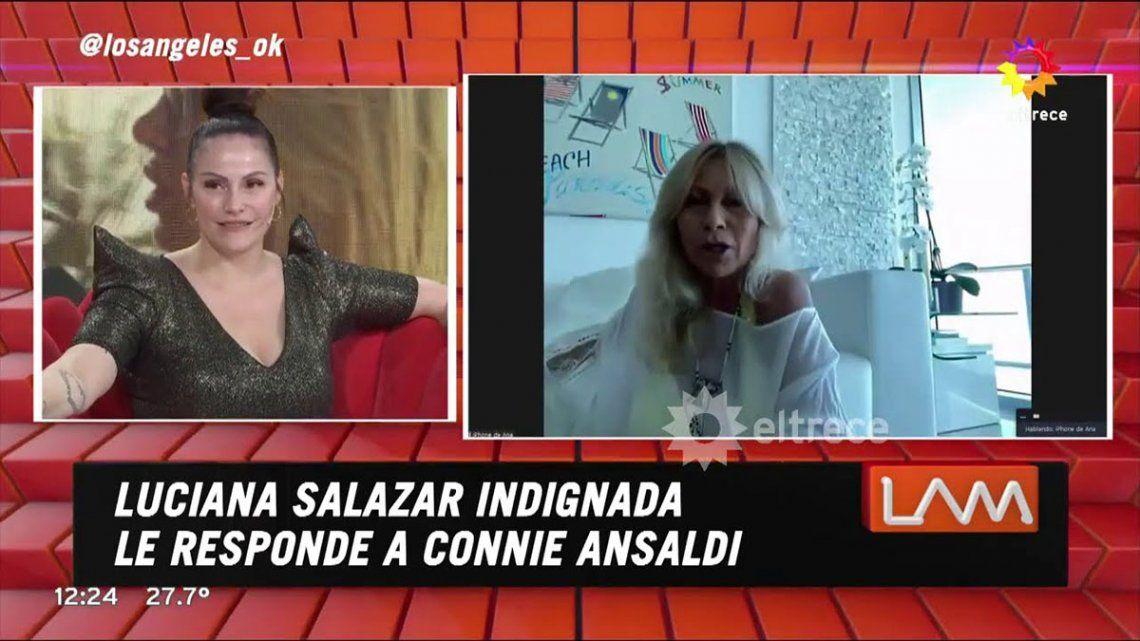 Connie Ansaldi y Ana Rosenfeld se cruzaron en el programa Los Angeles de la mañana
