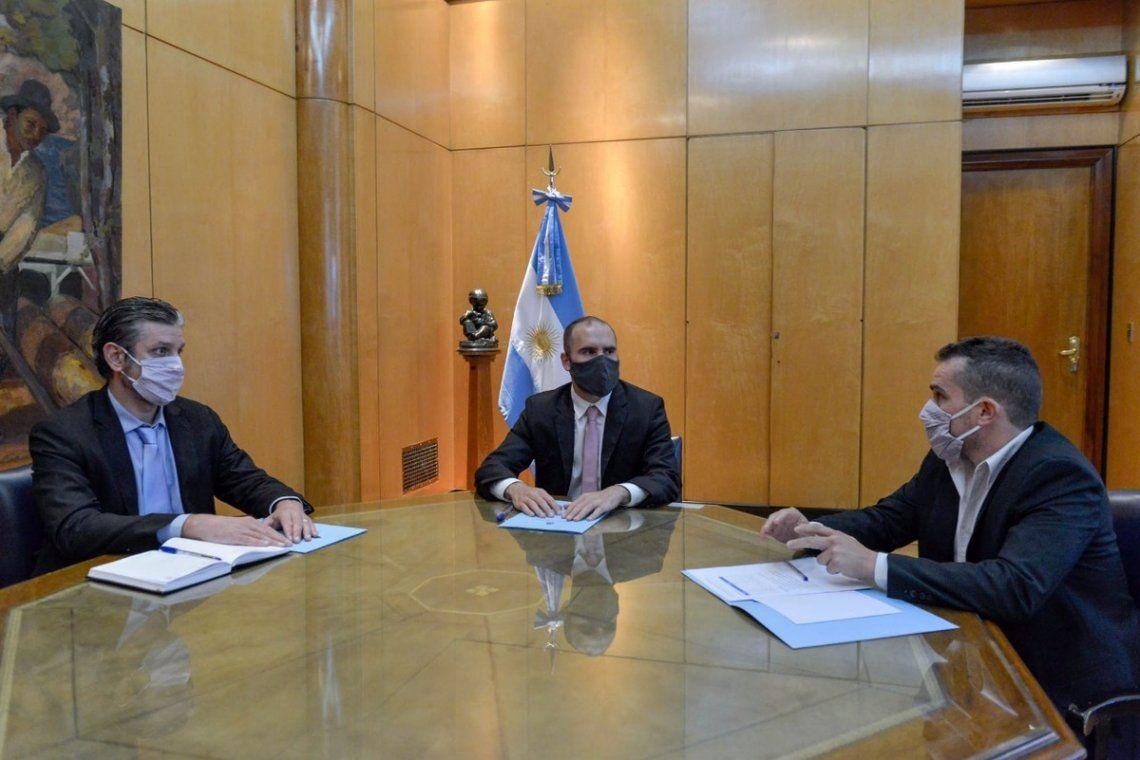 Guzmán mantuvo una reunión con el saliente Diego Bastourre y su reemplazante Mariano Sardi