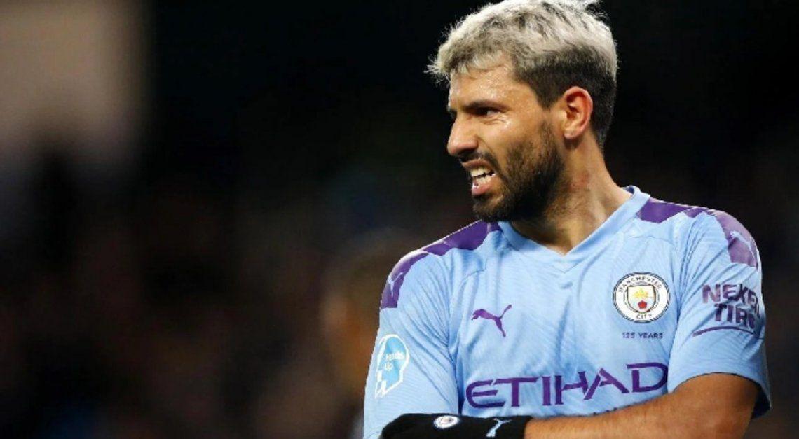 Sergio Agüero no pudo sumar minutos en la Copa FA.