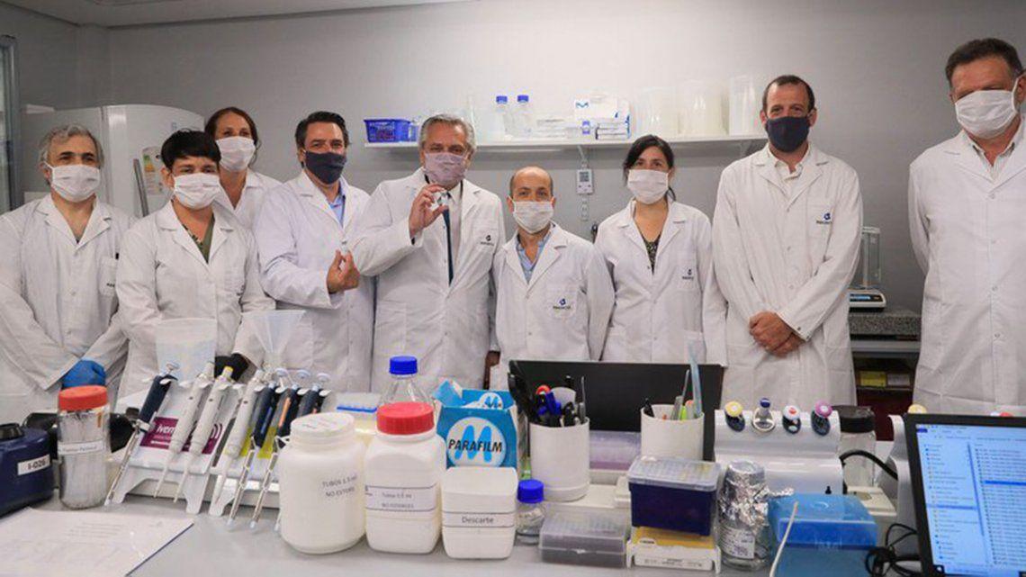 Alberto Fernández orgulloso por los desarrollos de la ciencia argentina