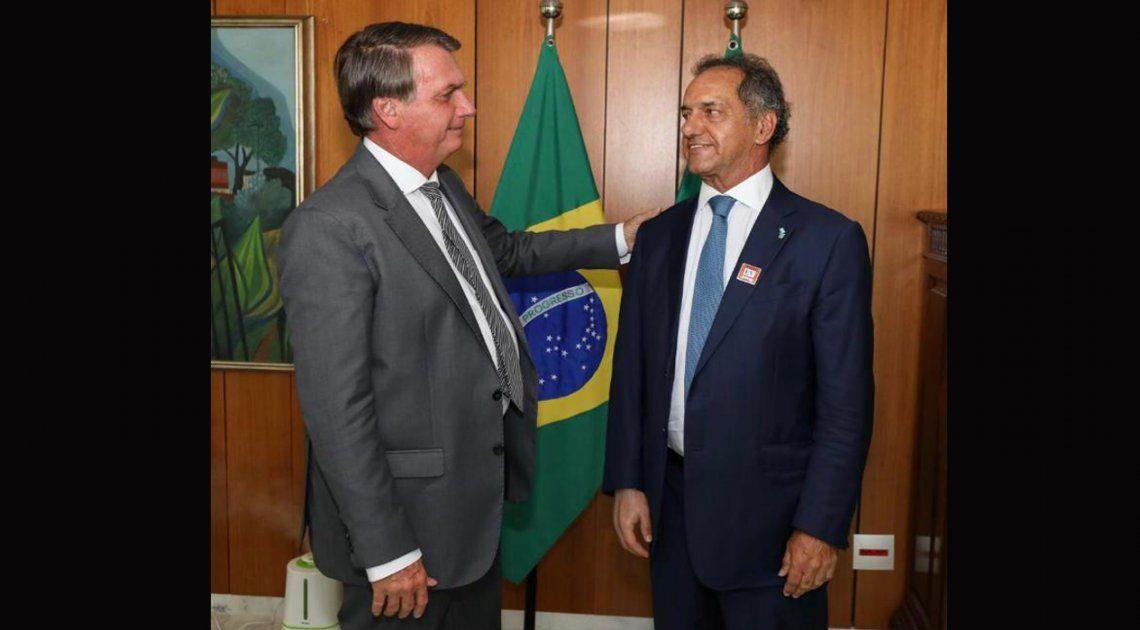 Scioli logró el compromiso de Bolsonaro para la compra de trigo argentino