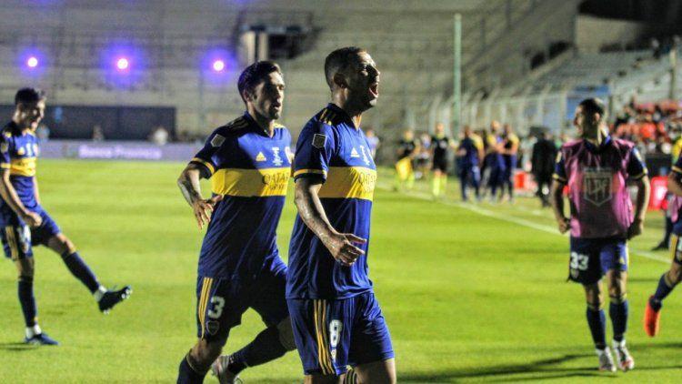 Edwin Cardona, autor del gol de Boca Juniors, el flamante campeón de la Copa Diego Armando Maradona