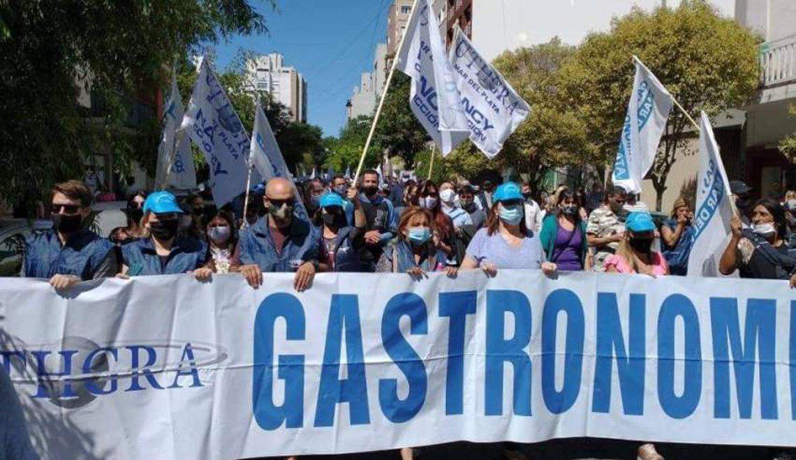 Mar del Plata: marcha de gastronómicos.