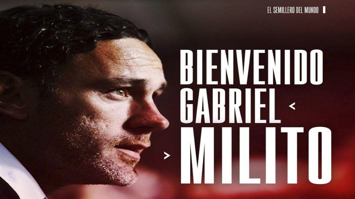 Gabriel Milito es el nuevo DT de Argentinos Juniors.
