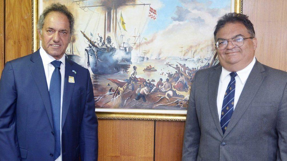 El embajador en Brasil Daniel Scioli se había entrevistado con Viana en septiembre.