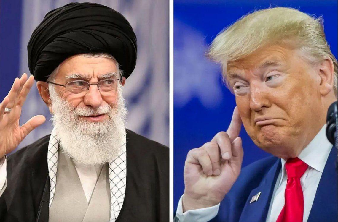 Alí Jamenei y Donald Trump.