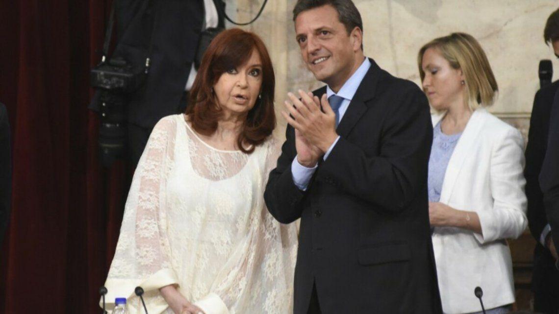 Cristina Kirchner y Sergio Massa decidieron que no haya aumentos de dietas en el Congreso