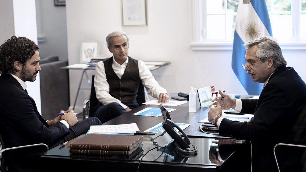 Fernández se reunió con Sebastián Piñera por videoconferencia.