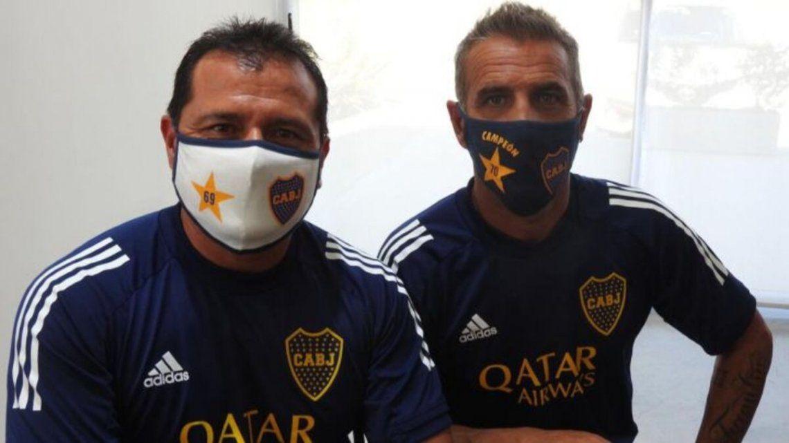 Raúl Cascini y el Chelo Delgado están conformes con la nueva dirigencia de Boca.