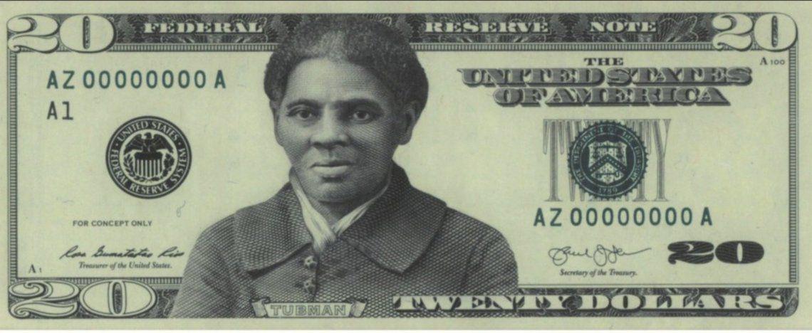La imagen del billete de 20 dólares de Harriet Tubman que Joe Biden quiere poner.