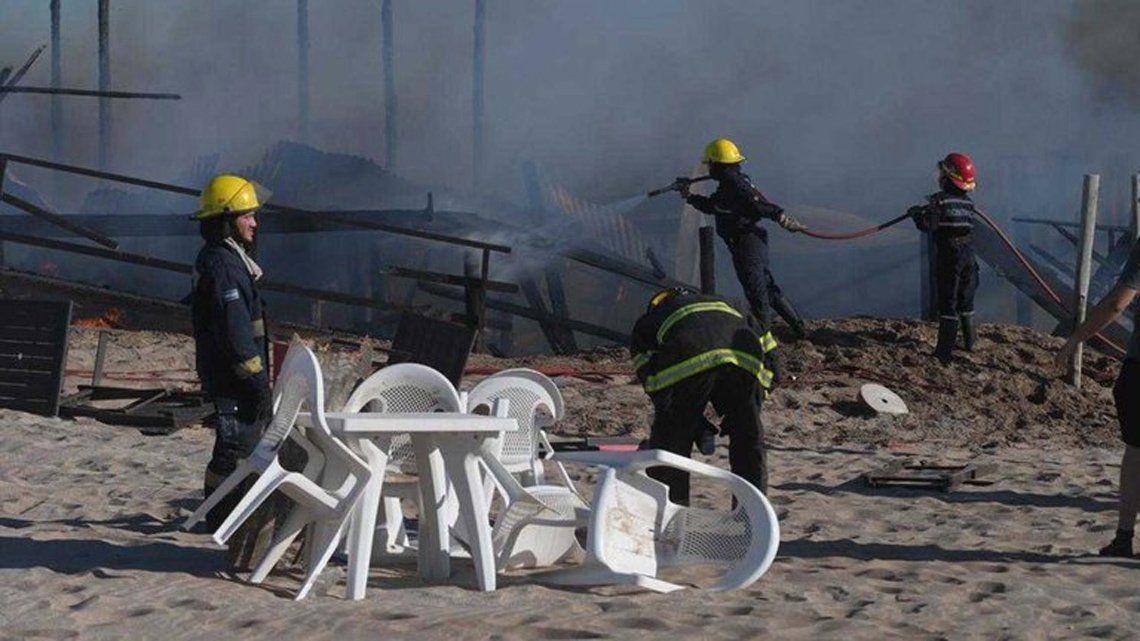 Pinamar: incendio en un parador.