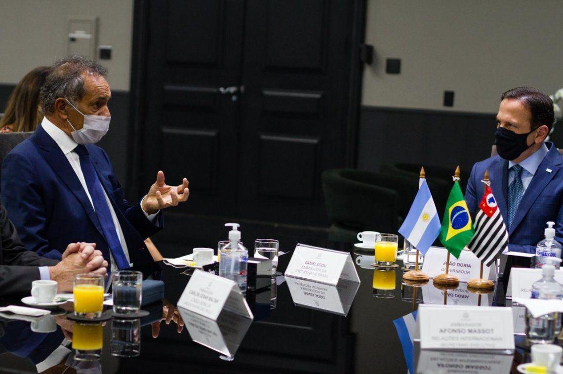 BRASIL: Daniel Scioli se reunió con el gobernador de San Pablo