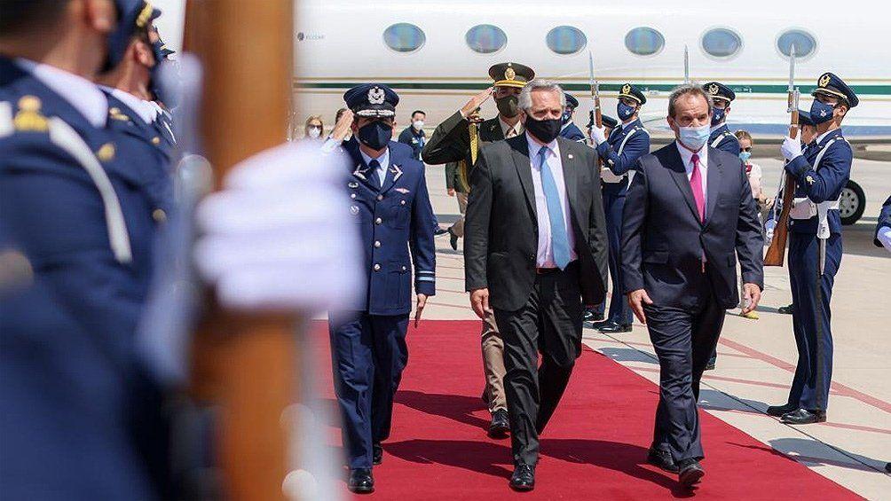 El presidente Alberto Fernández encara el segundo día de actividades en su visita oficial a Chile.