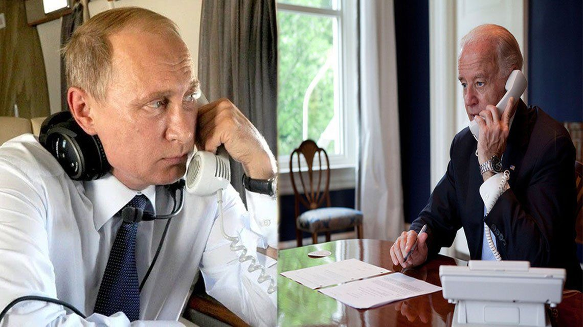 Joe Biden habla por primera vez con Putin como presidente.