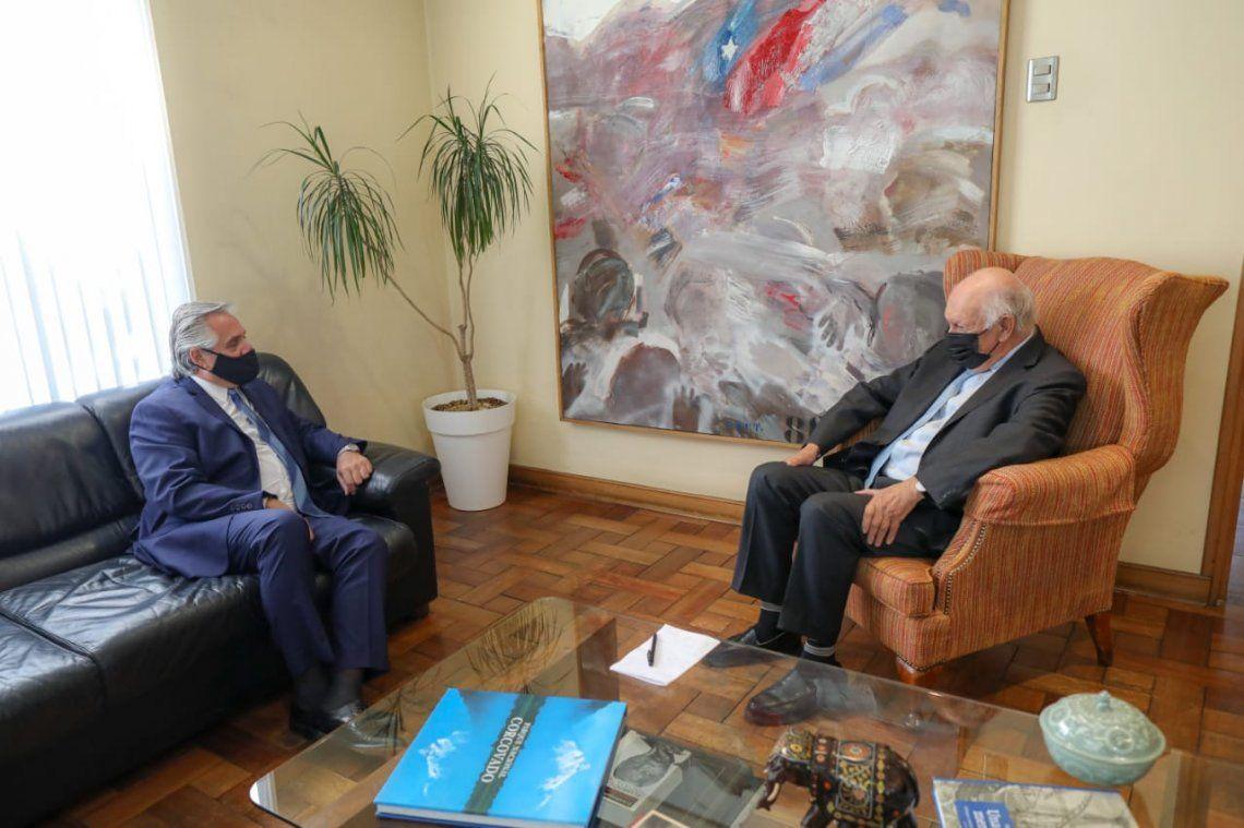 El presidente Alberto Fernández mantuvo una reunión con Ricardo Lagos.