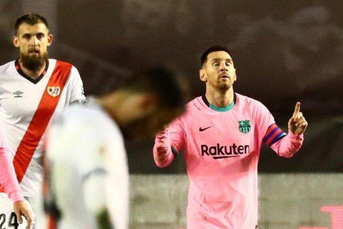 Lionel Messi volvió con un gol y Barcelona lo dio vuelta.
