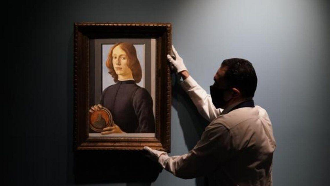 Nueva York: Una retrato de Sandro Botticelli fue subastado en 92 millones de dólares