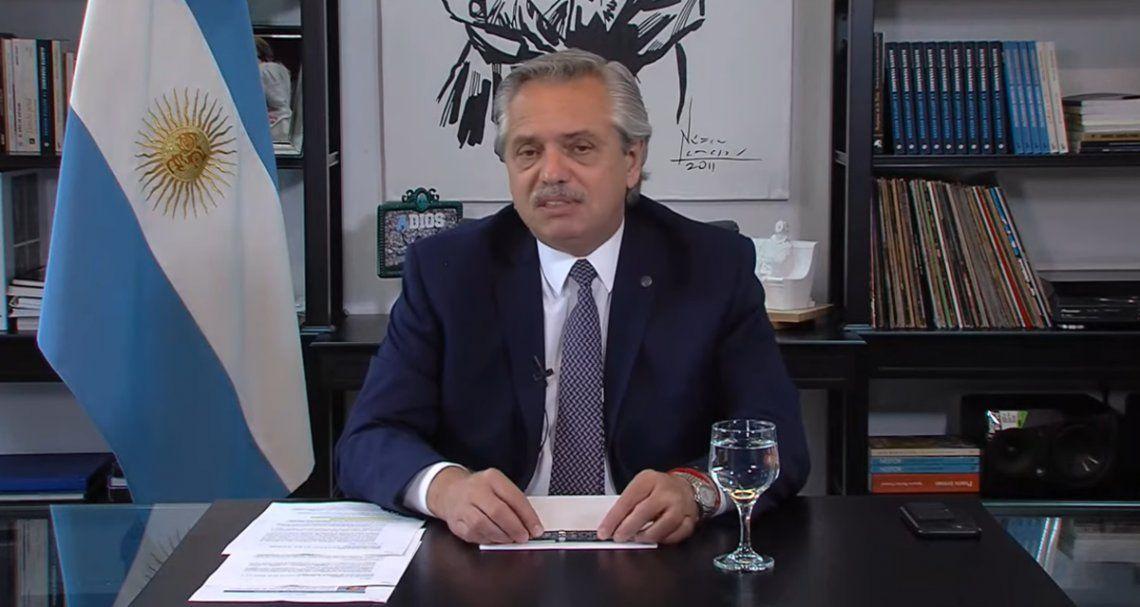 El presidente Alberto Fernández disertó en forma remota en el Foro de Davos.