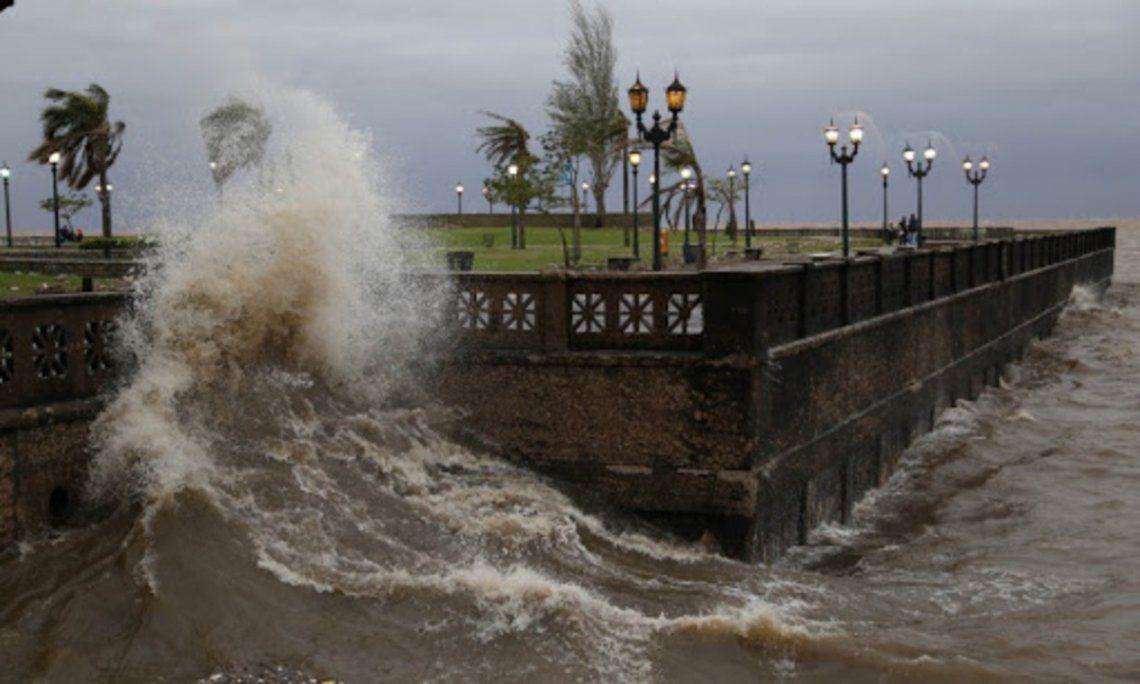 Alerta por tormentas y crecida del Río de La Plata