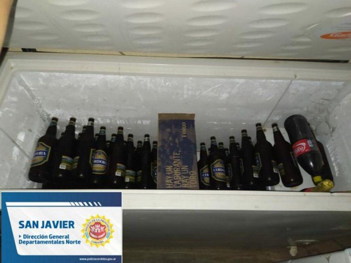 Imágenes tomadas por la Policía de Córdoba en el operativo en Villa Dolores.