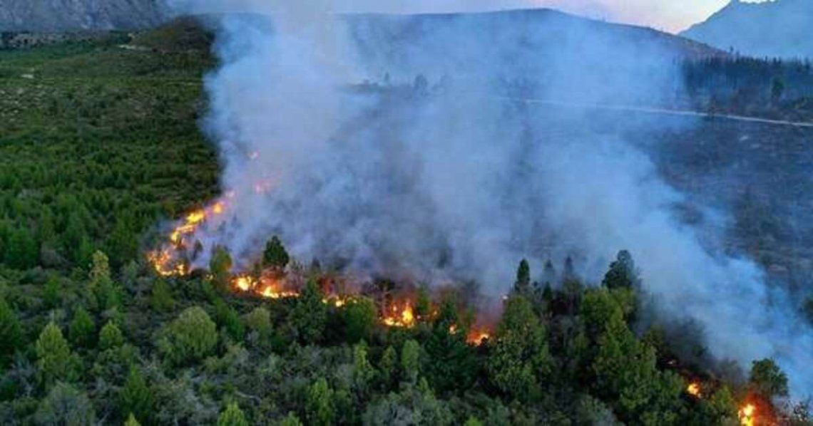 Envían a 140 brigadistas a combatir los incendios en El Bolsón.