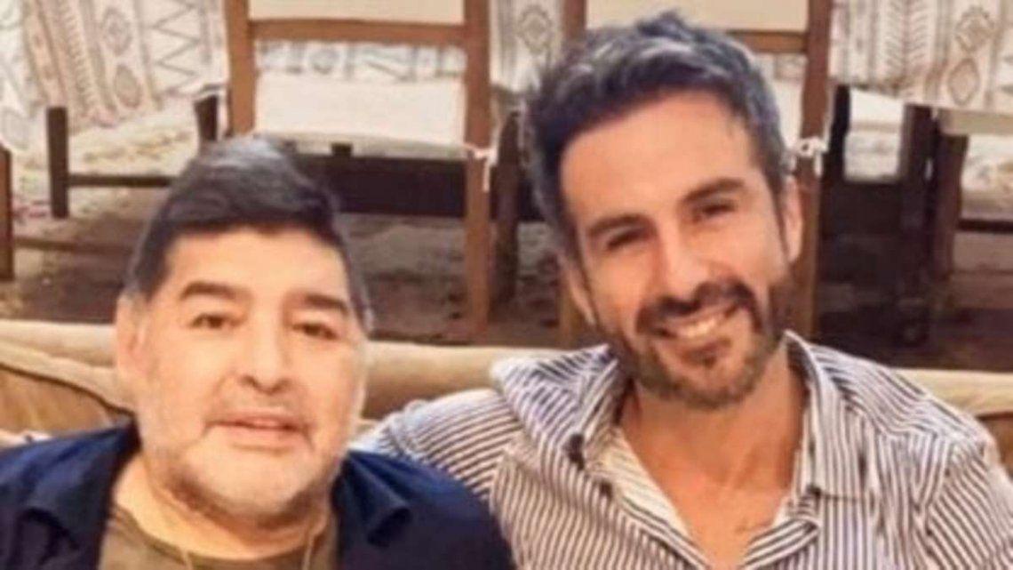 Diego Maradona y Leopoldo Luque.