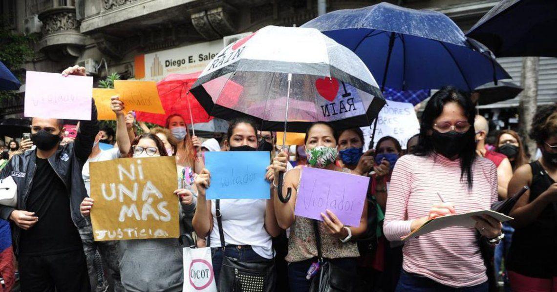 Protestas por la violación a la joven venezolana.