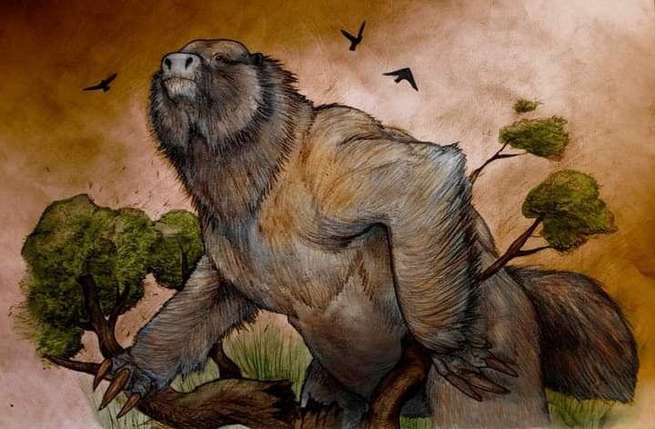 El megaterio fue un enorme perezoso terrestre.