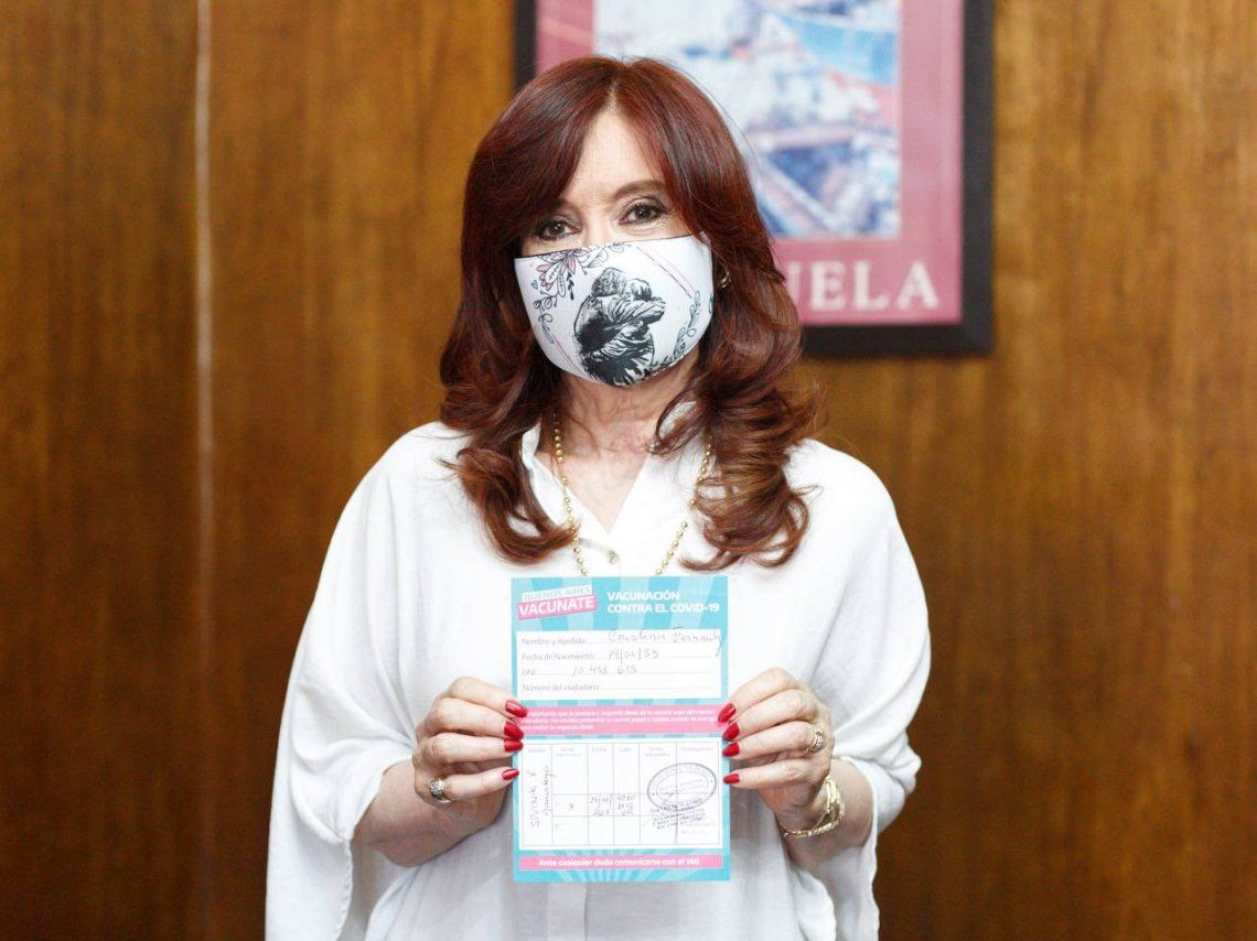Cristina Kirchner celebró la efectividad de la vacuna Sputnik V