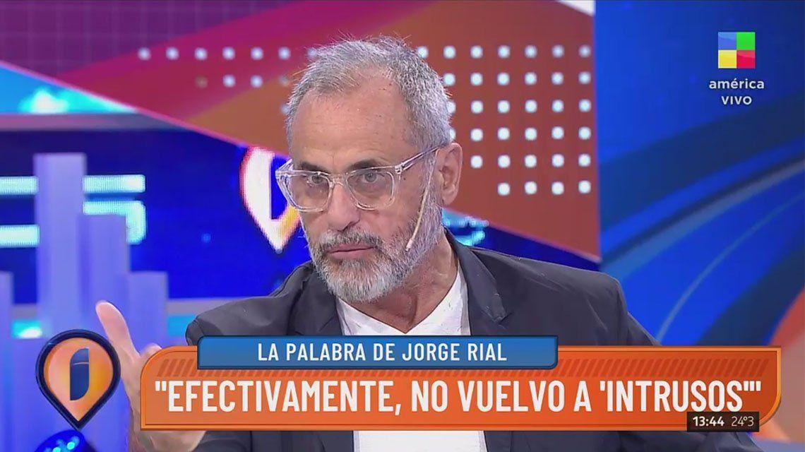 Jorge Rial confirmó que deja Intrusos.