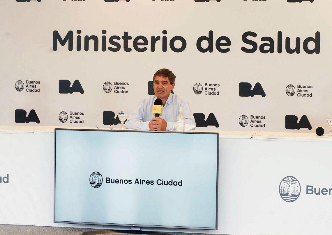 Fernán Quirós pidió perdón por el caos en la vacunación contra el coronavirus en la Ciudad