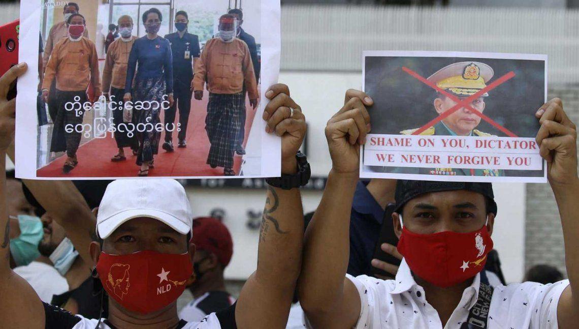 Birmania: miles de ciudadanos se volcaron a las calles para repudiar el Golpe de Estado
