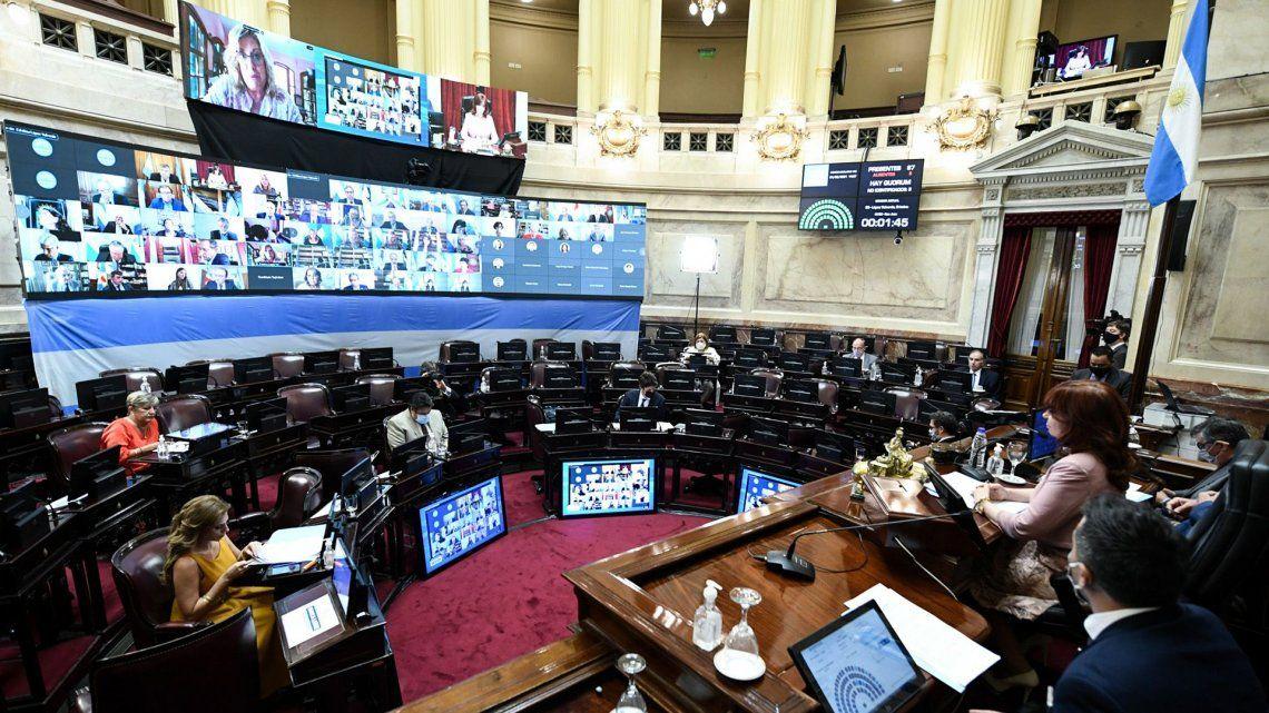 El Senado retomó las actividades de forma telemática.