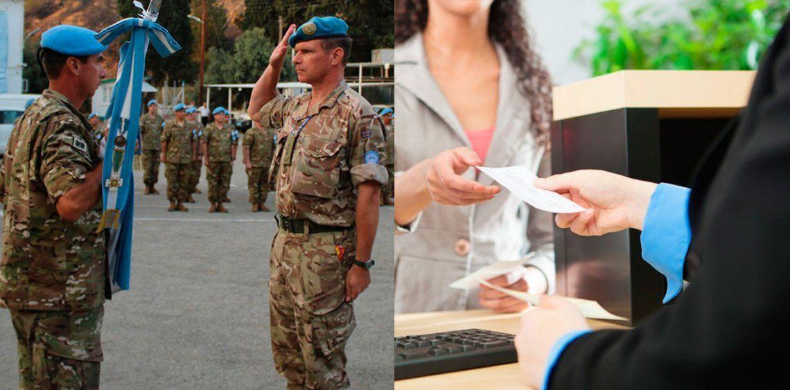 El salario incial de un bancario es igual al de un coronel del Ejército