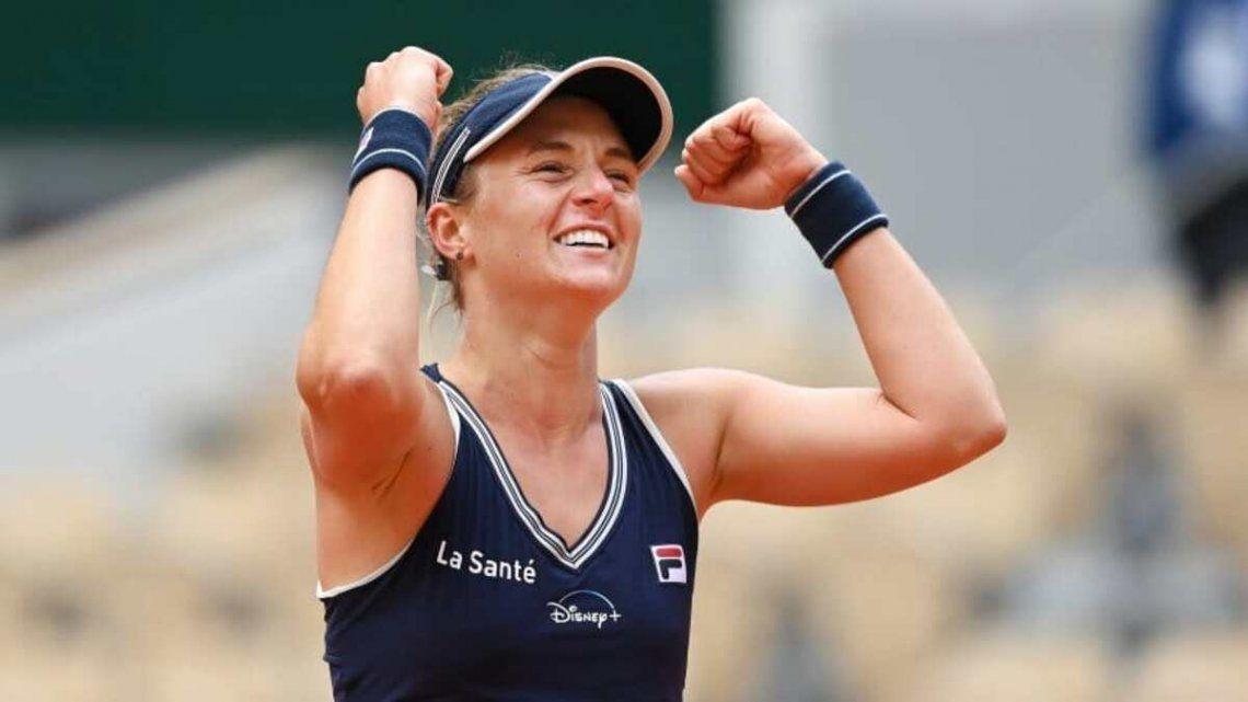 Nadia Podoroska quedó eliminada en cuartos de final