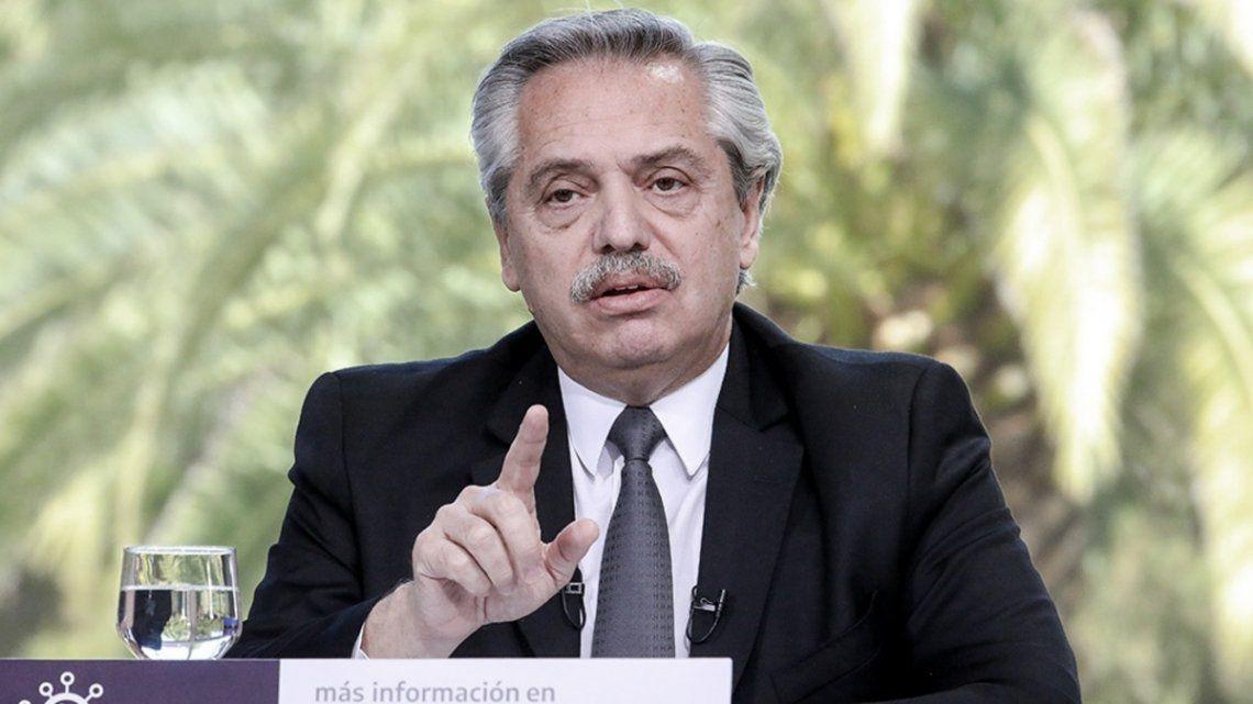 Alberto Fernández advirtió que podría subir las retenciones.
