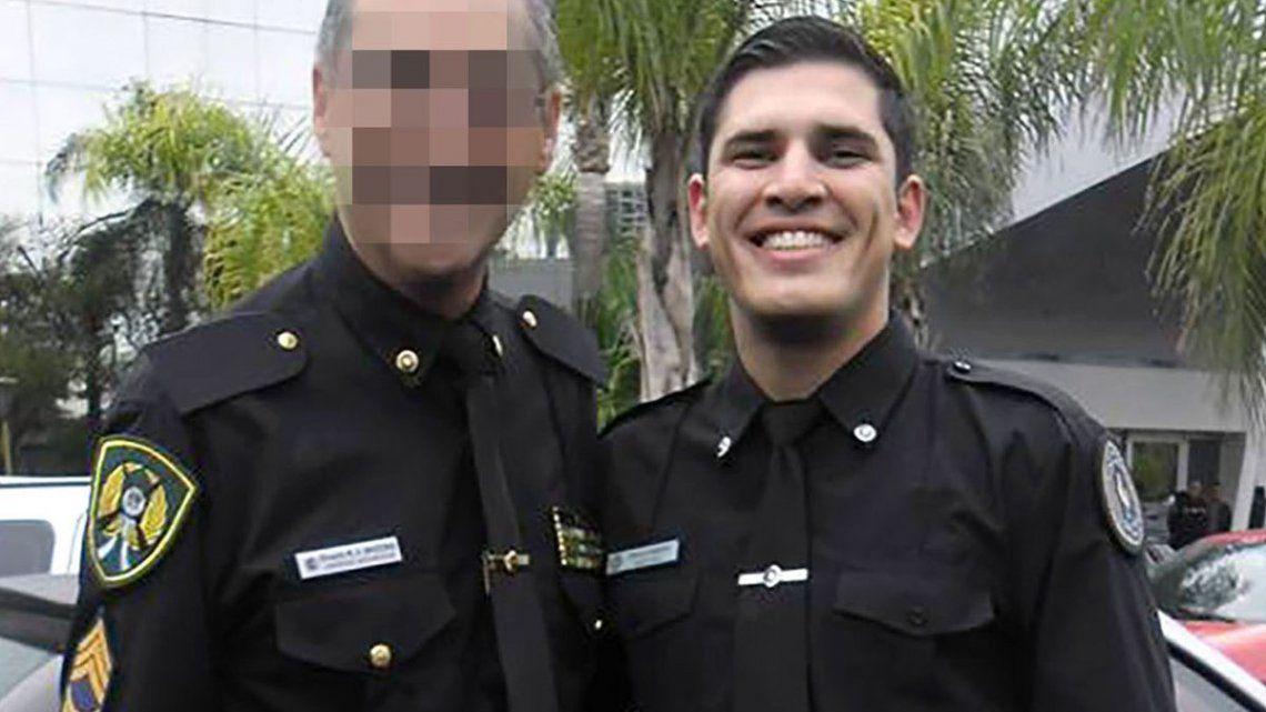 Policía: Homenaje al oficial asesinado en Laferrere.