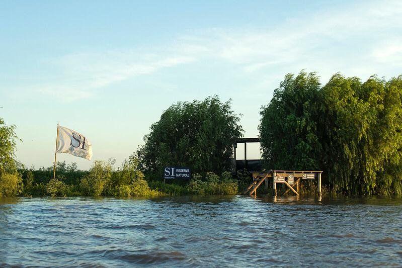 Apareció una nueva isla en San Isidro