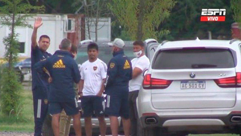 Juan román Riquelme estuvo en la práctica de Boca Juniors
