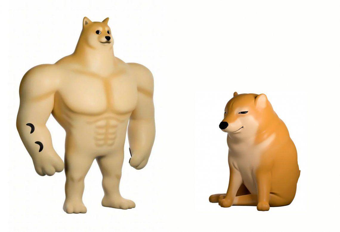Memes: el perro fuerte y el perro débil ahora son juguetes