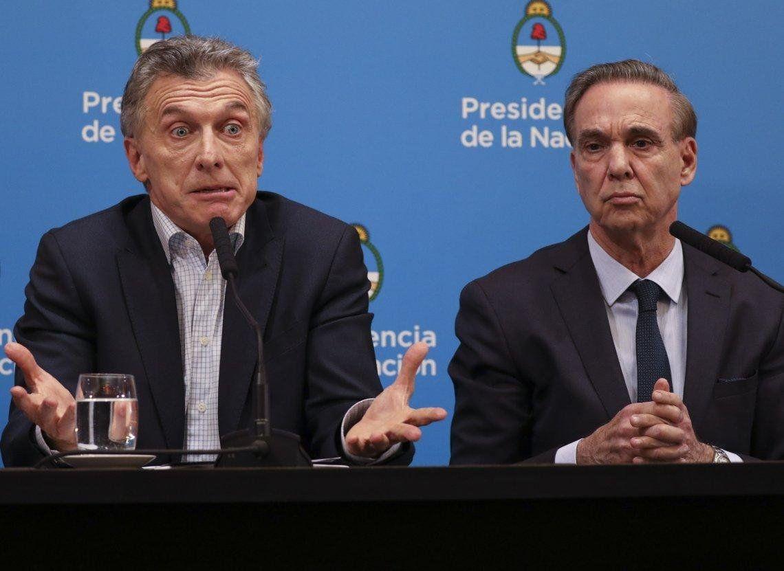 Mauricio Macri y Miguel Pichetto