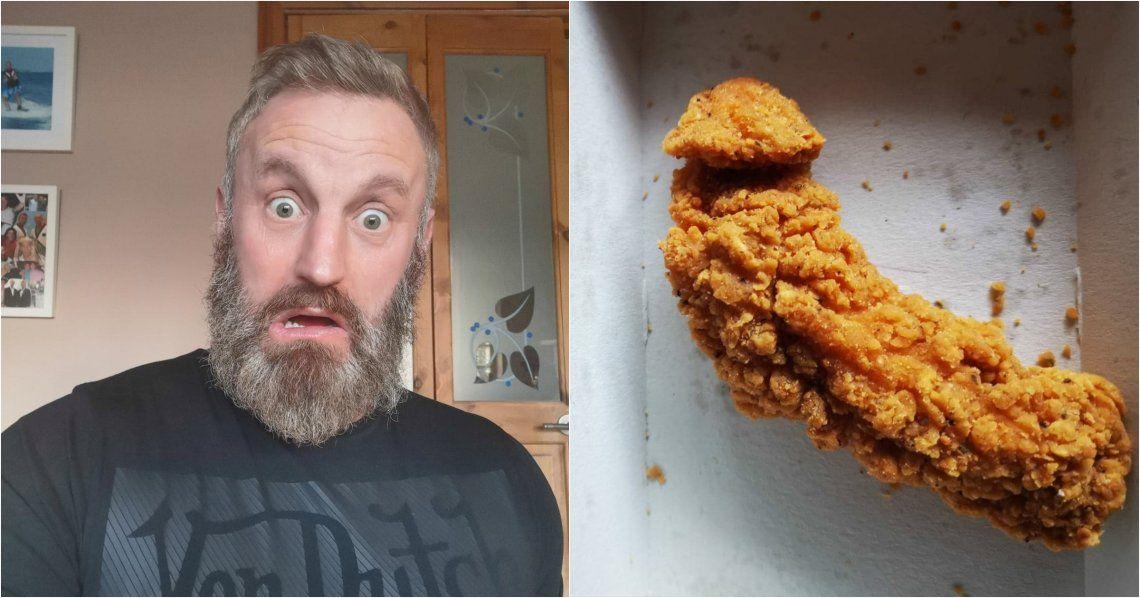 Reino Unido: casi se ahoga con un pollo de McDonalds con forma de pene