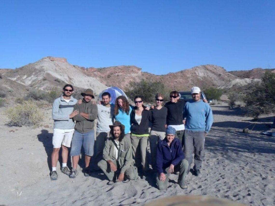 El equipo de investigadores que realizó el hallazgo.