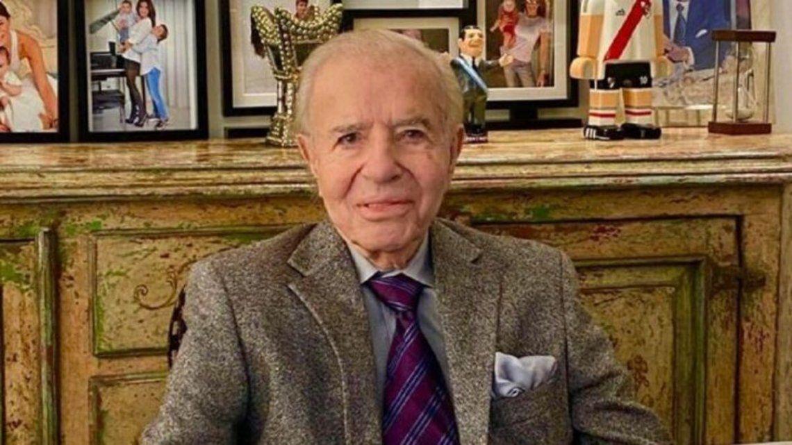 El ex presidente Carlos Menem fue recordado en las redes sociales.