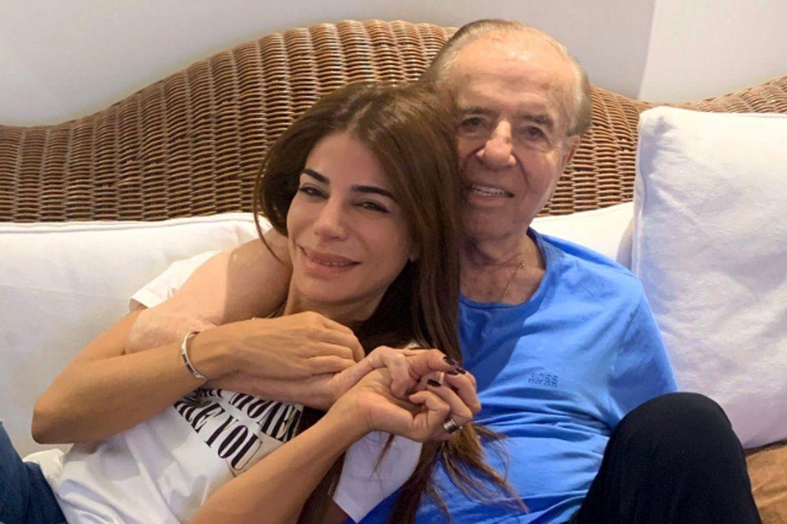 Zulemita acompañó a su padre en la clínica hasta los últimos momentos.