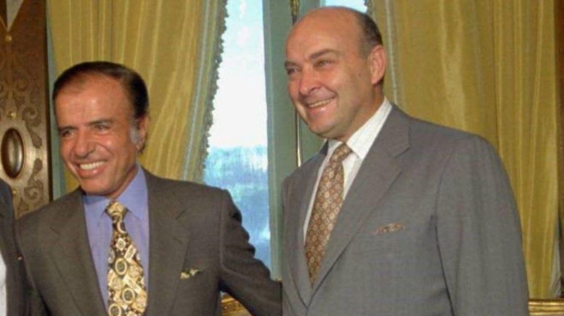 Carlos Menem junto a quien fuera su ministro de Economía